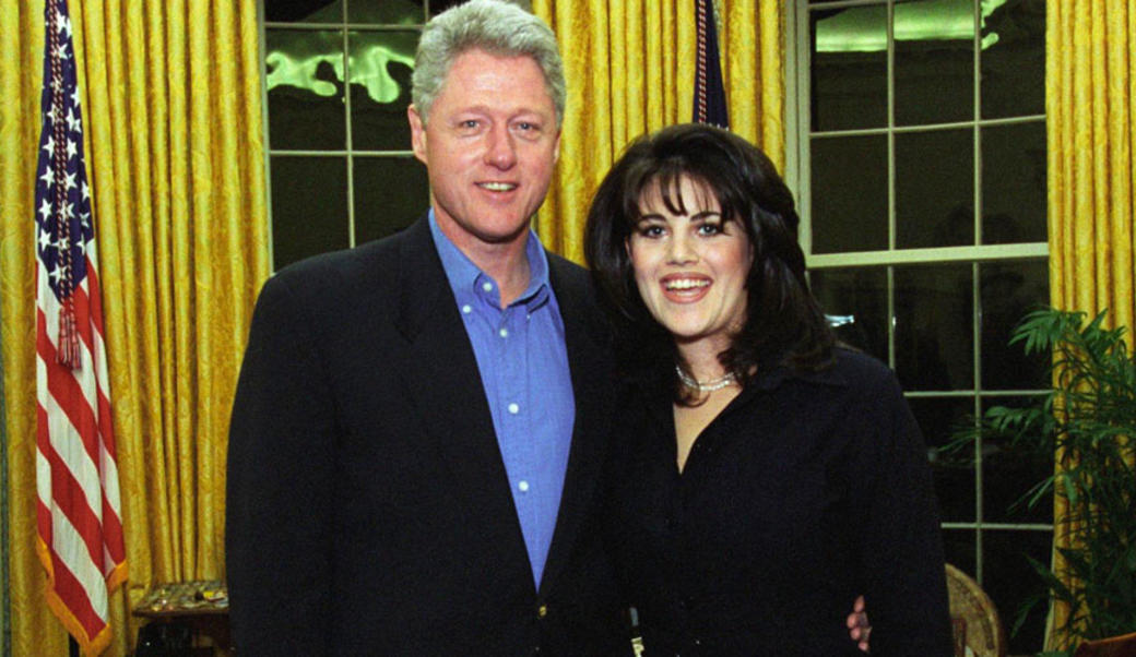 Bill Clinton and Monica Lewinsky in 1997