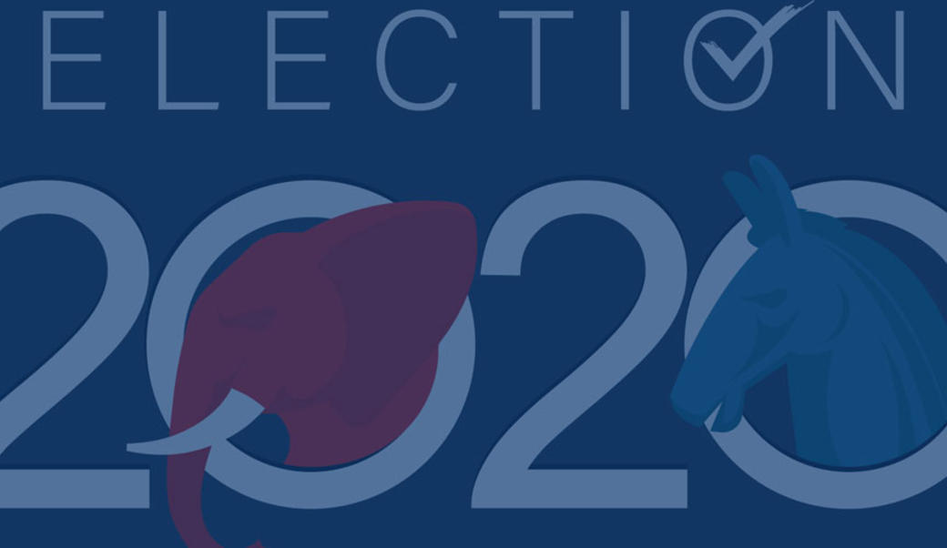 graphic of text saying election 2020