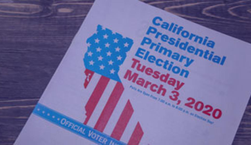 California's primary booklet election 2020
