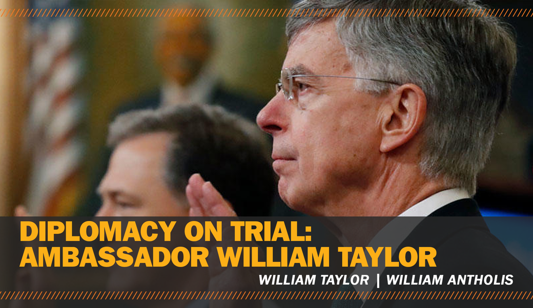 william taylor speaking in the house at Trump's impeachment trial
