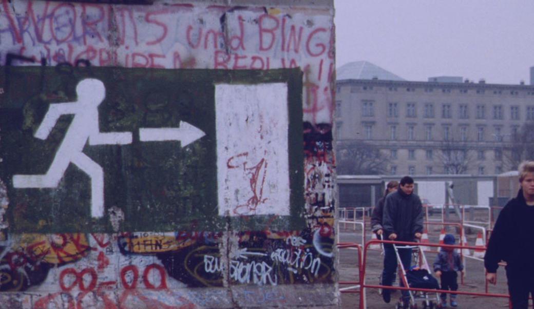 Berlin, Germany, soon after the fall of the Berlin Wall on November 9,  1989