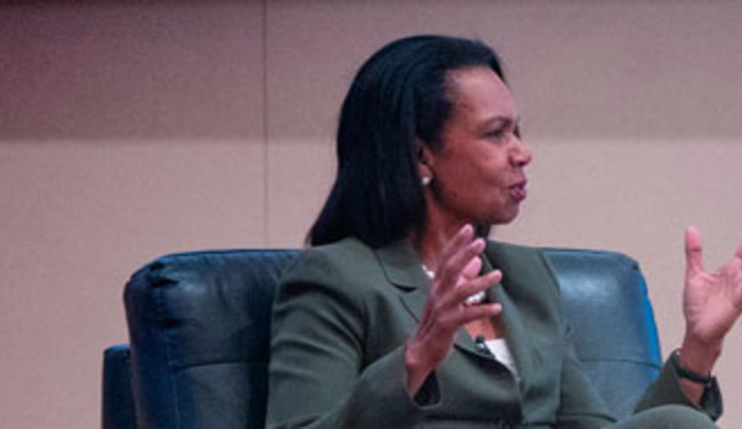 Condoleezza Rice speaking