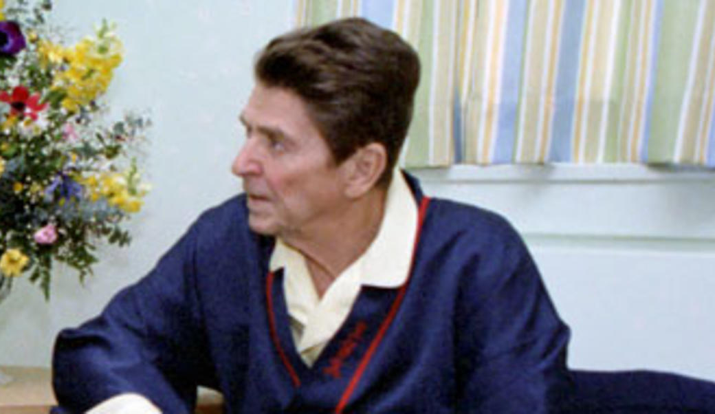 Ronald Reagan in the hospital