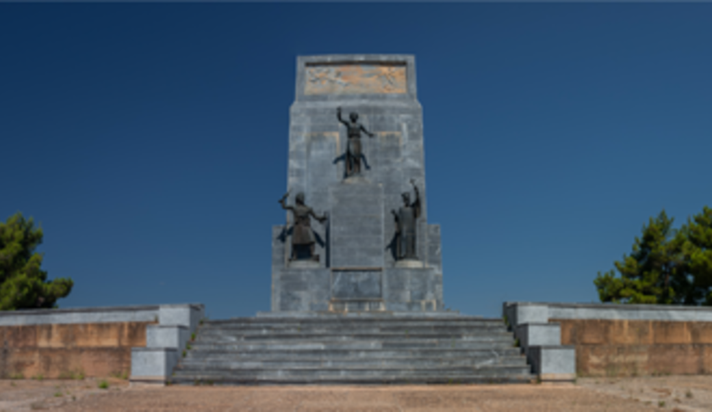 Monument for the Greek Revolution of 1821, against blue skies