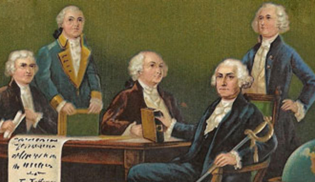 Painting of George Washington and his cabinet
