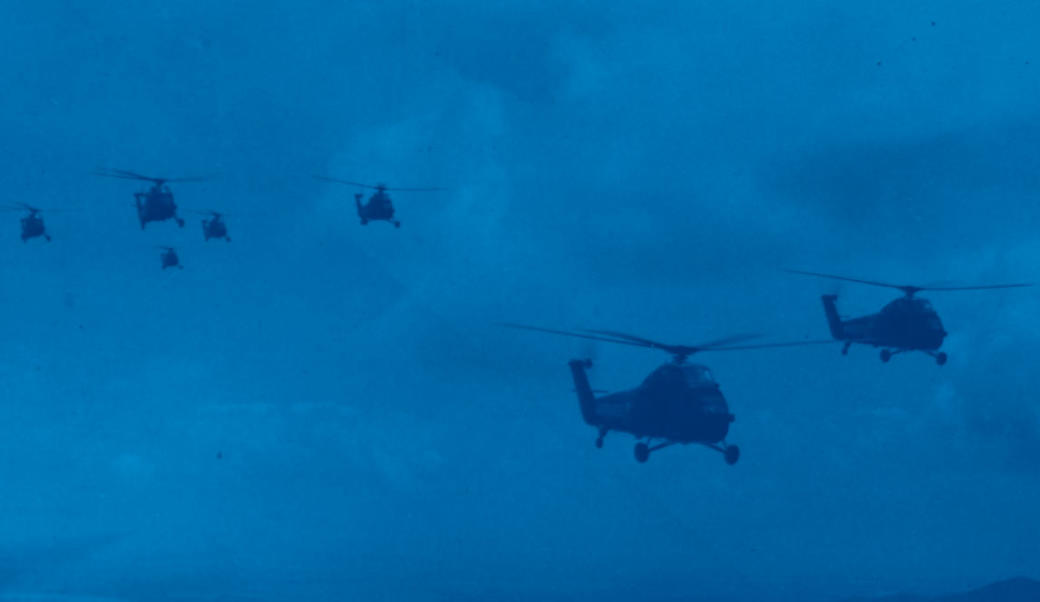 Marine helicopters in Vietnam, April 6, 1964. US Marine Corps.