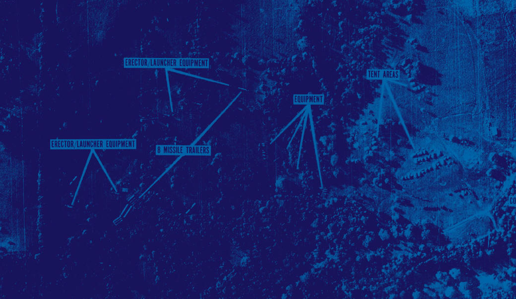 Photo showing missile sites in Cuba
