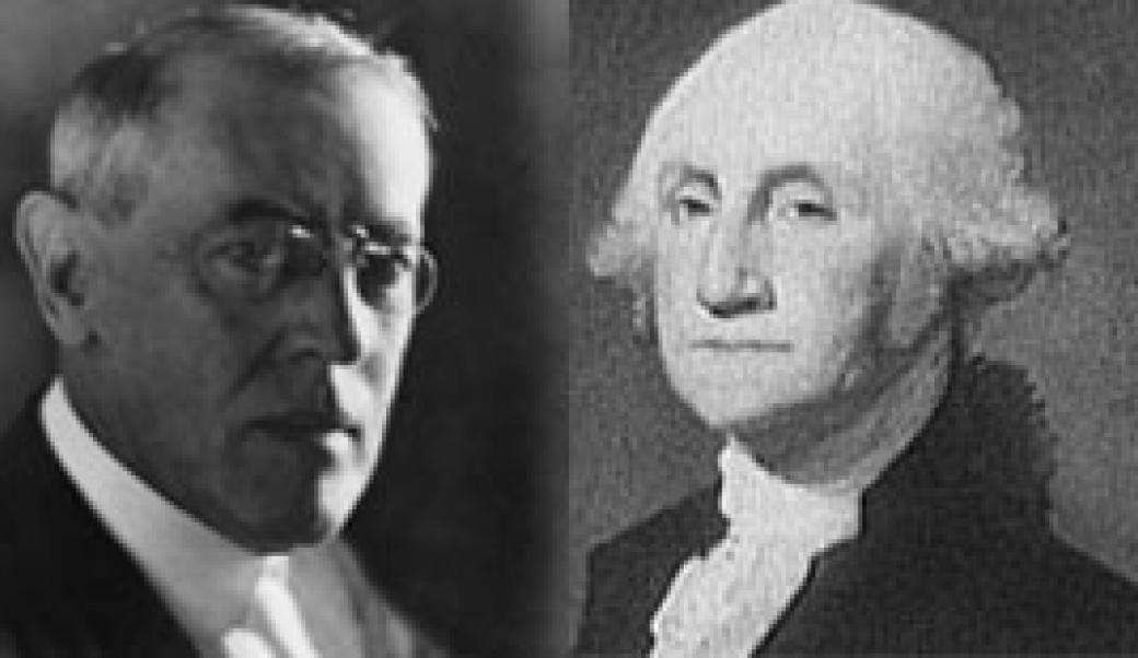 Woodrow Wilson and George Washington