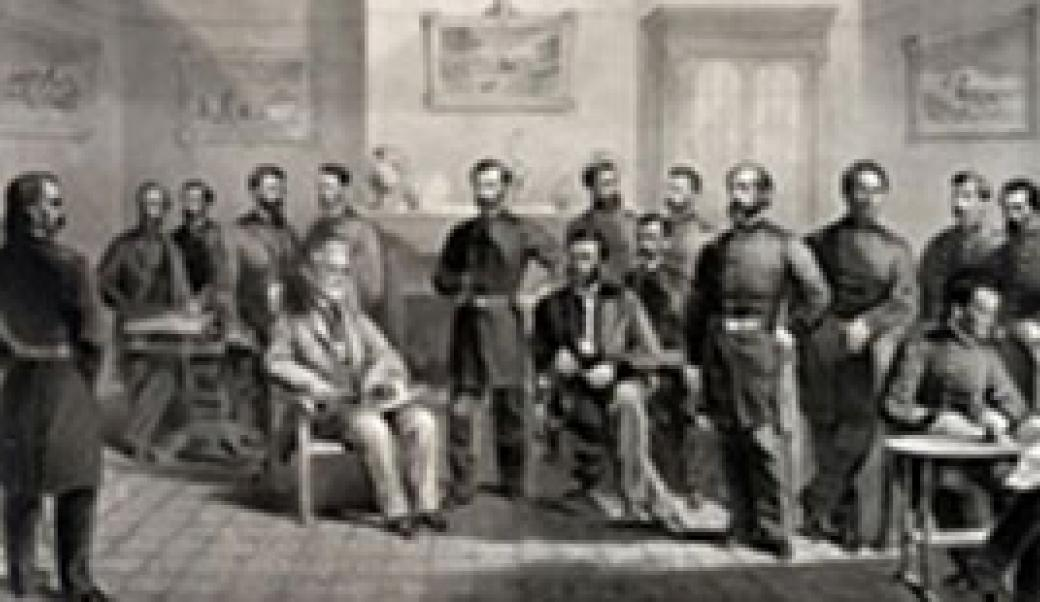 Group of men in meeting