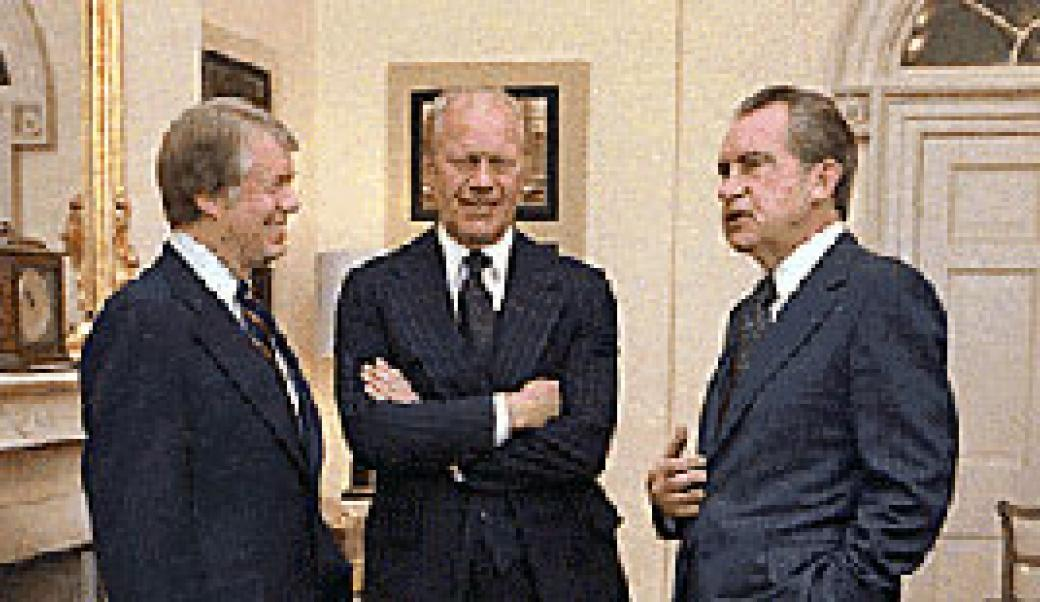 Presidents Carter, Ford, and Nixon