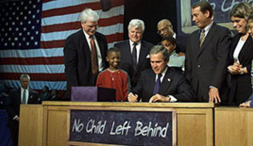 signing No Child Left Behind