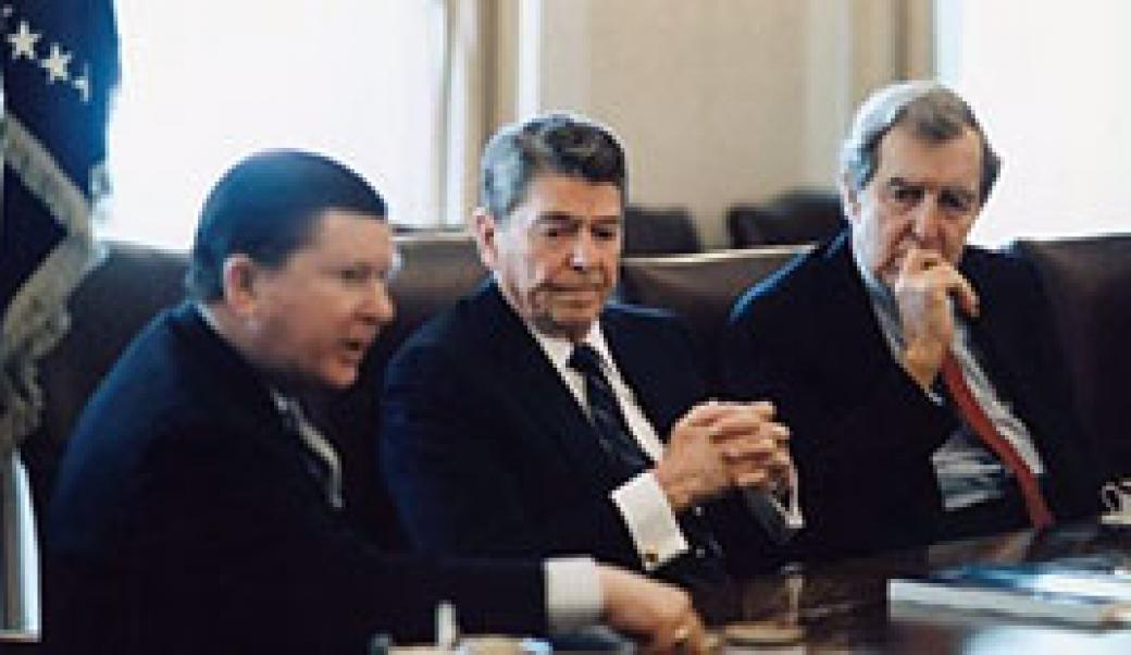 John Tower and Ronald Reagan