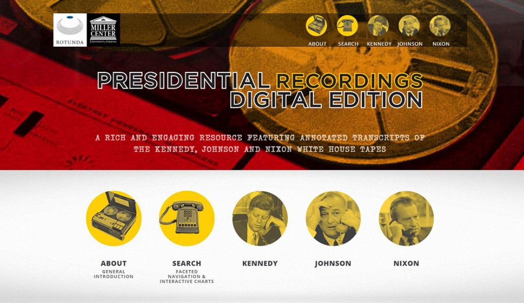 Presidential Recordings Website