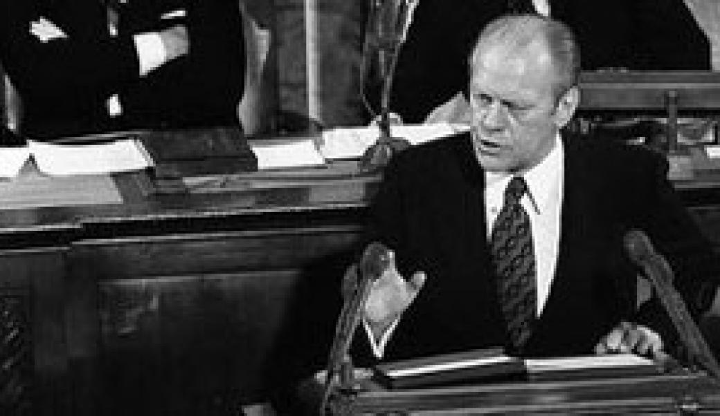 Gerald Ford delivers State of the Union address