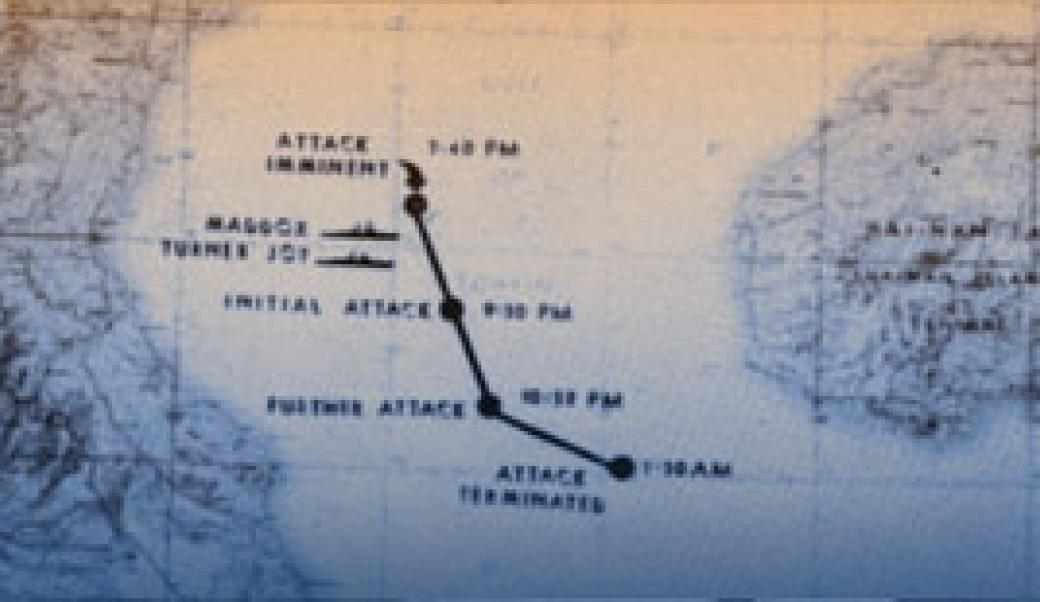 Map depicting Gulf of Tonkin incident