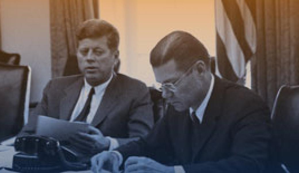 President Kennedy and Robert McNamara