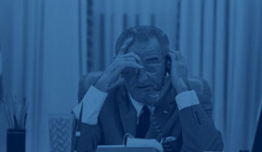 Lyndon Johnson on phone