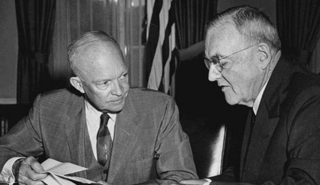 Eisenhower and John Foster Dulles