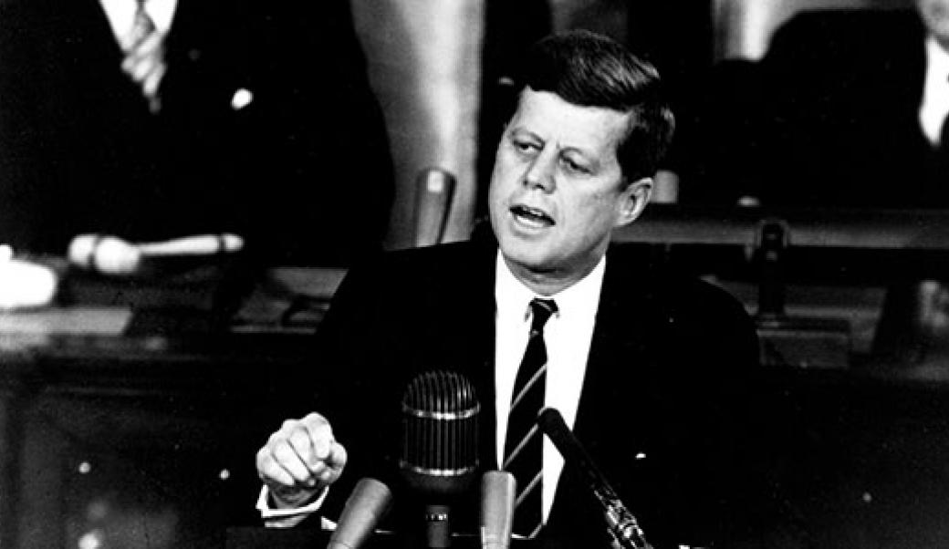 John Kennedy speaking to Congress