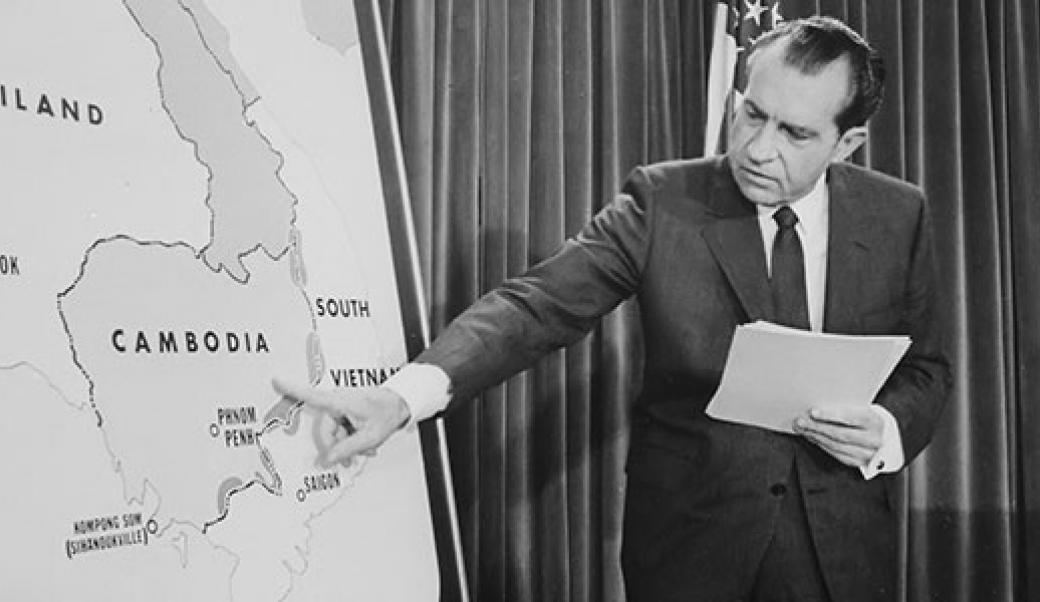 Nixon declares Vietnam War is ending