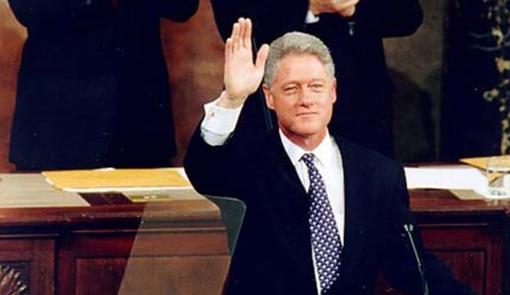 Bill Clinton waving