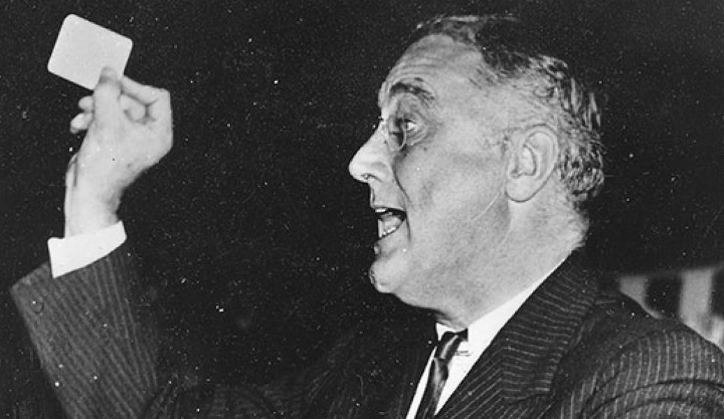 Roosevelt talking
