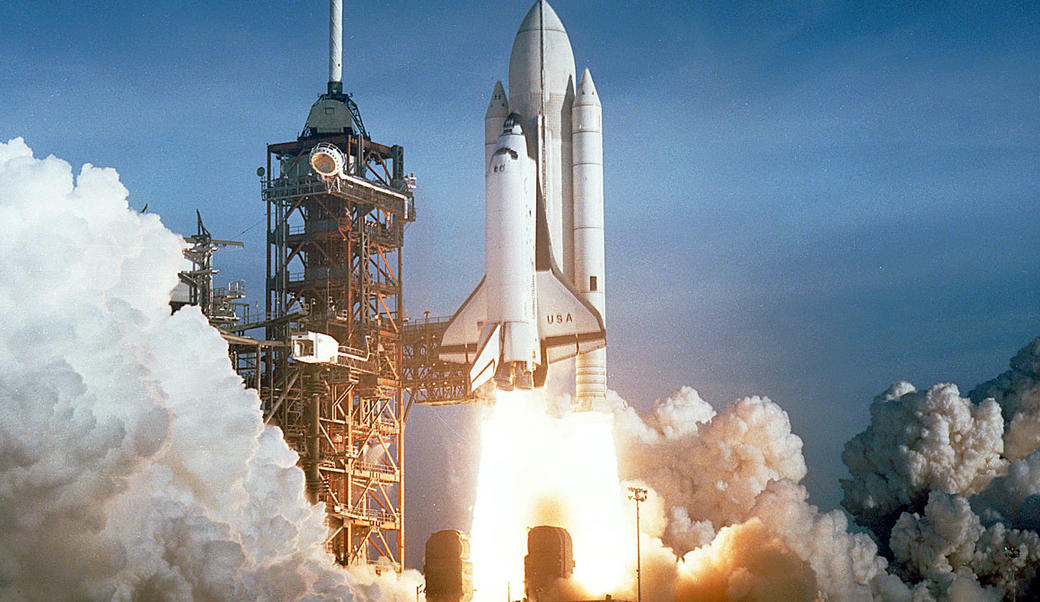 Space Shuttle Columbia launching