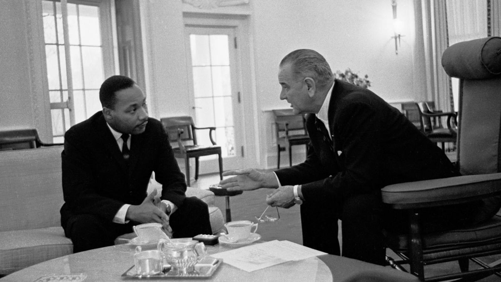 Martin Luther King Jr. meeting with LBJ