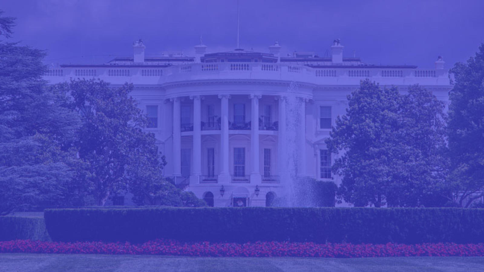 White House with blue tint