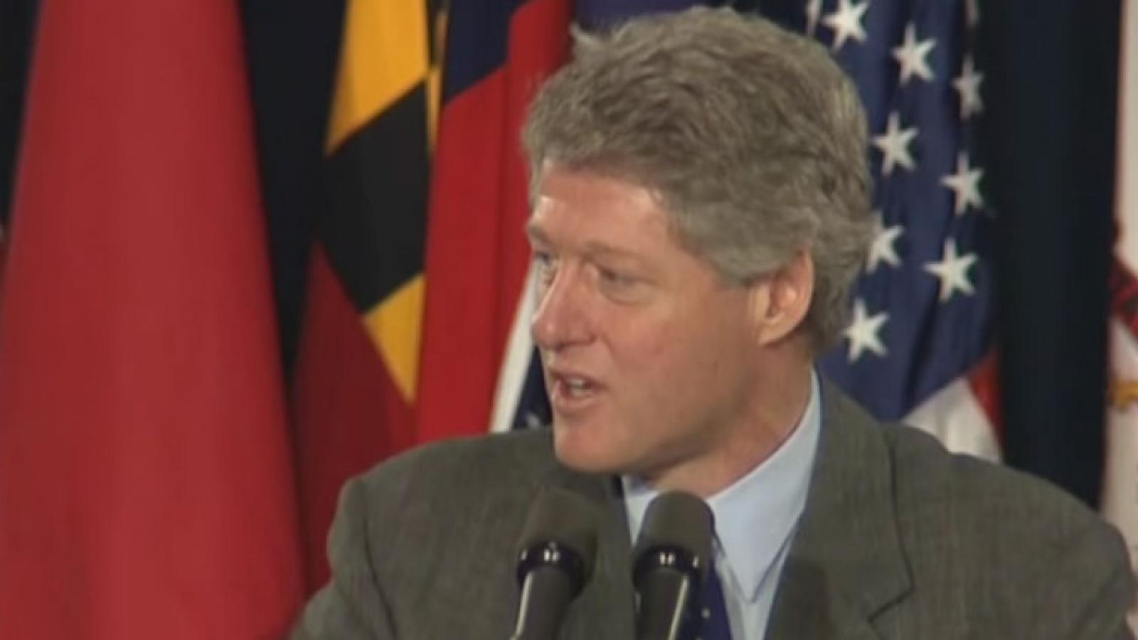 President Clinton speaking