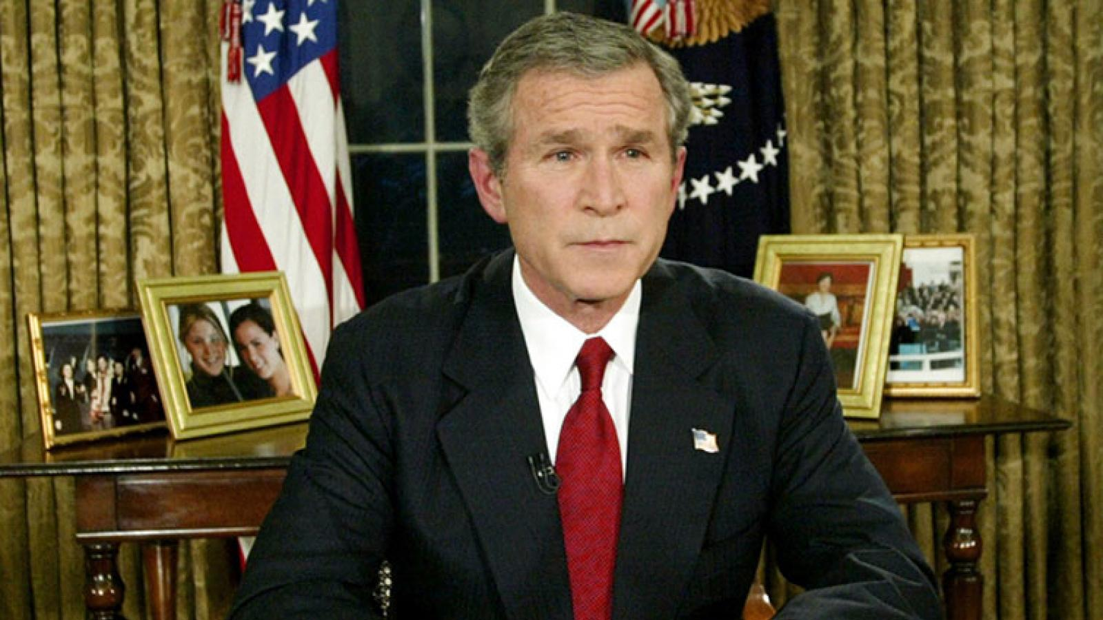 president george bush orders attack on iraq 2002-10-07 full text of an address given by president bush in cincinnati skip to main content  george bush's speech on iraq  if saddam hussein orders.